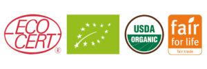 Nos produits - Certifications biologiques et équitables