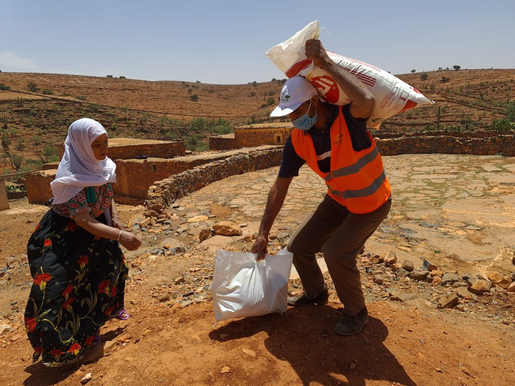 Marocavie - Distribution de paniers solidaires - 01